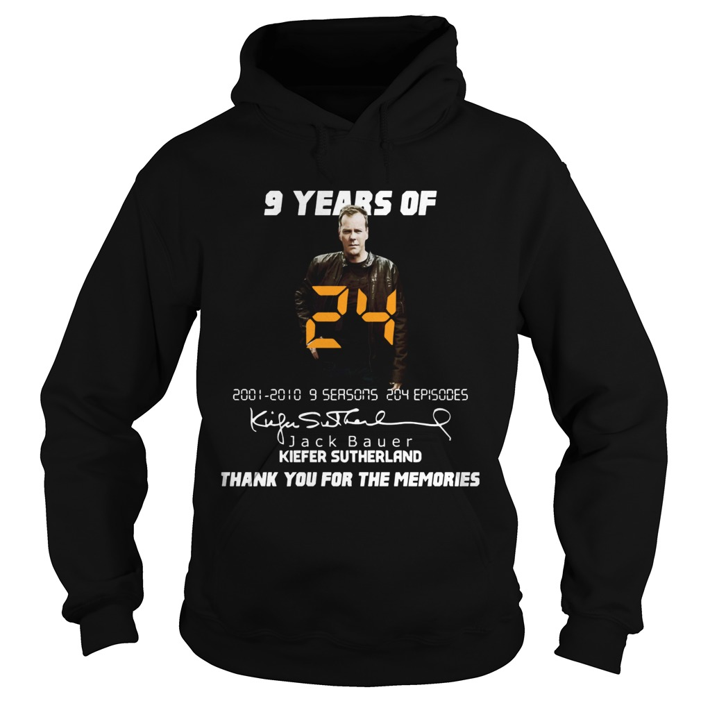 9 years of Jack Bauer Kiefer sutherland thank you for the memories Hoodie