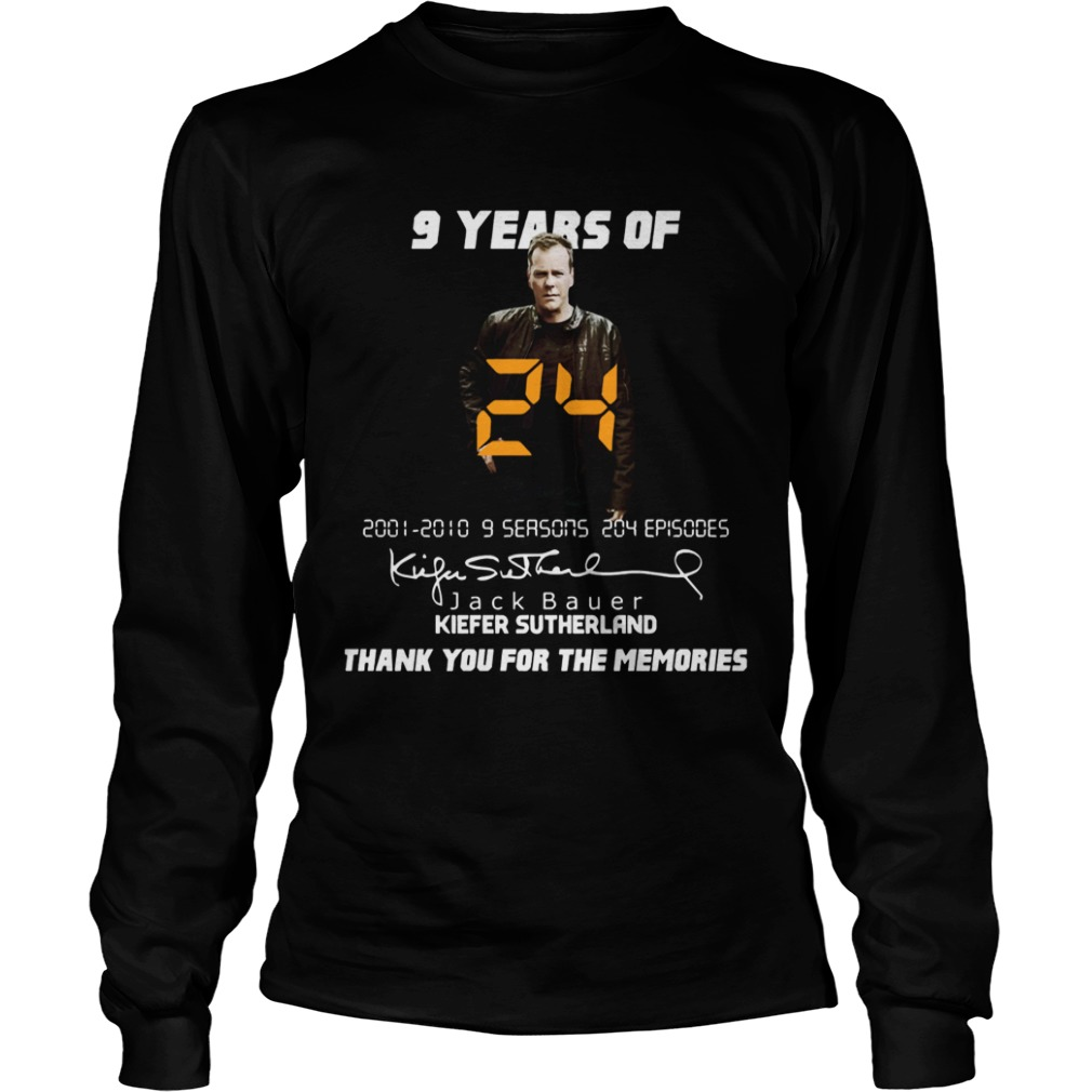 9 years of Jack Bauer Kiefer sutherland thank you for the memories LongSleeve