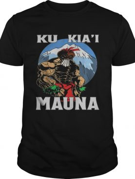 Ku Kia'i Mauna Hawaii Warrior Protest Rally T-Shirt T-Shirt