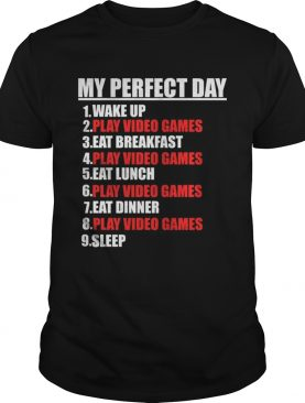 My Perfect Day Video Games – Funny Cool Gamer Tee Gift T-Shirt