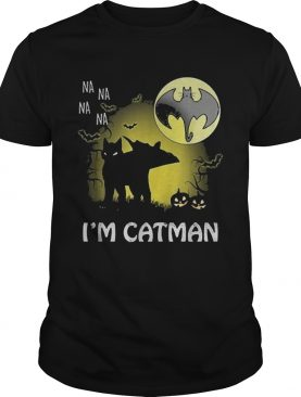 Na na na na I'm catman black Halloween moon shirt