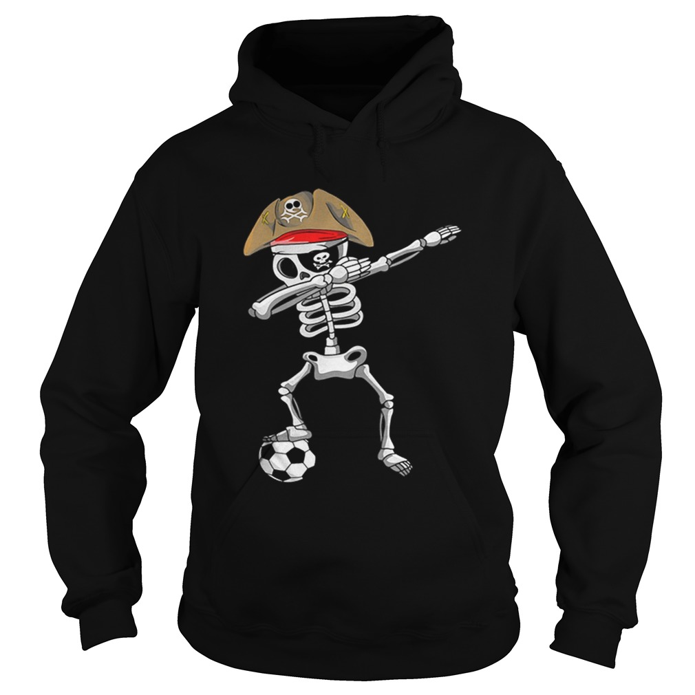 Official Halloween Soccer Pirate Dabbing Skeleton Soccer Hoodie