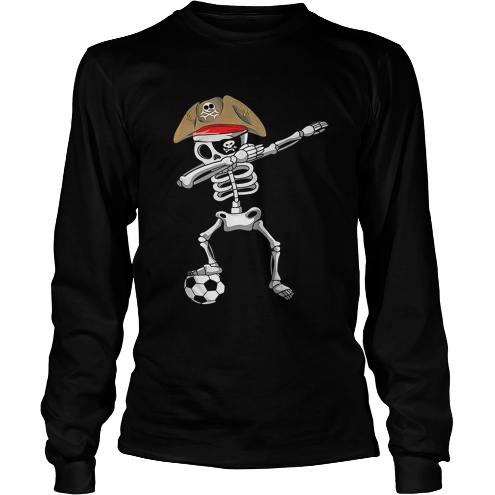 Official Halloween Soccer Pirate Dabbing Skeleton Soccer LongSleeve
