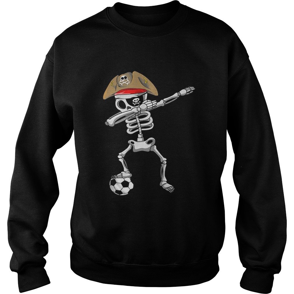 Official Halloween Soccer Pirate Dabbing Skeleton Soccer Sweatshirt