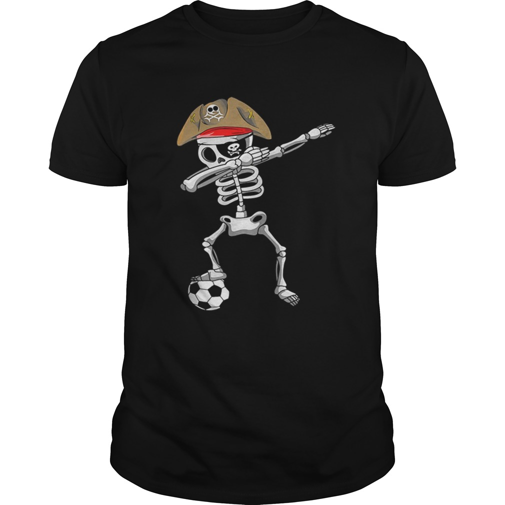 Official Halloween Soccer Pirate Dabbing Skeleton Soccer Unisex