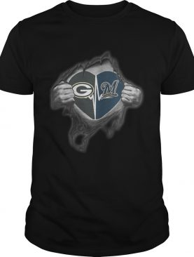Packers Brewers Its in my heart inside me shirt