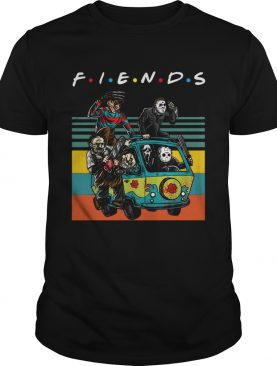 Vintage Friends TV Show Horror film characters t-shirt