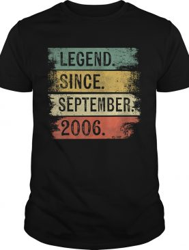 Legend Since September 2006 13th Birthday Gifts 13 Year Old T-Shirt
