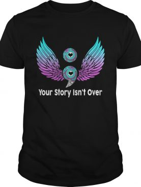 Birds Semicolon Gift Suicide Prevention Awareness TShirt