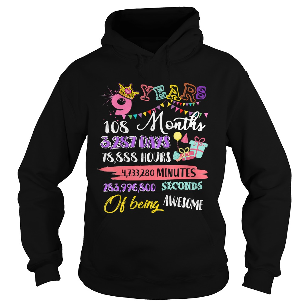 For Girls 9 Years Old Being Awesome Gift TShirt Hoodie