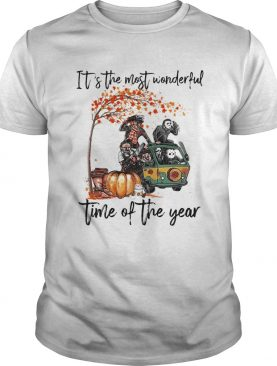 Horror character movie Its the most wonderful time of the year shirt