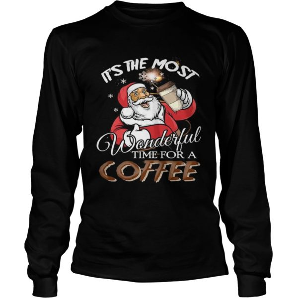 Its the most wonderful time for a coffee Santa Claus  LongSleeve