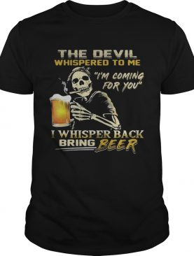 Jack Skellington I will drink beer here or there or everywhere shirt