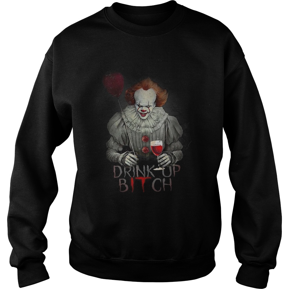 new arrival af659 06121 Pennywise drink up bitch IT tshirt