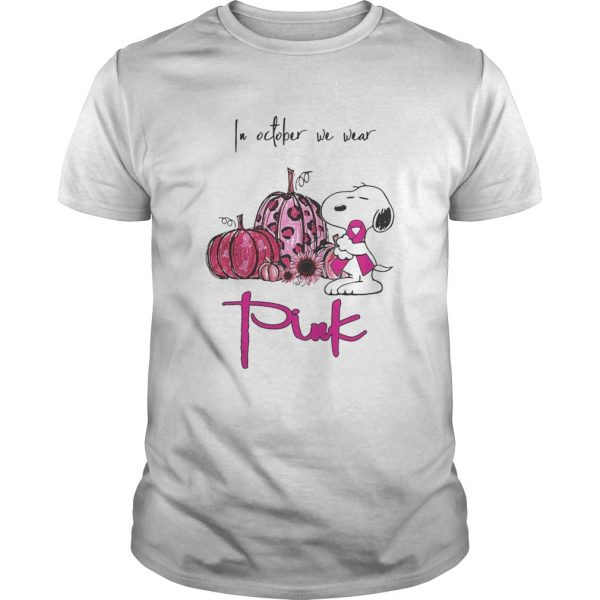Snoopy and pumpkin in october we wear pink  Unisex