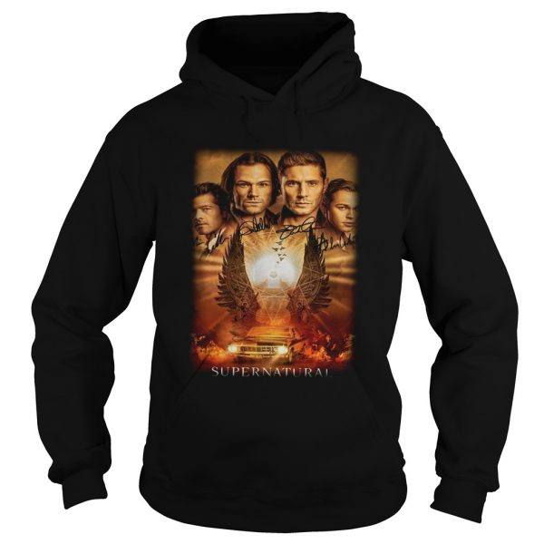 Supernatural The Winchesters final season characters signature  Hoodie