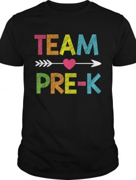 Team PreK Teacher Student Back To School Gift TShirt