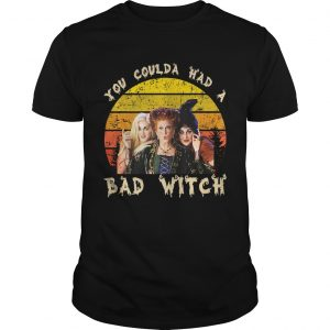 Vintage You Coulda Had a Bad Witch Halloween FunnyPremium TShirt