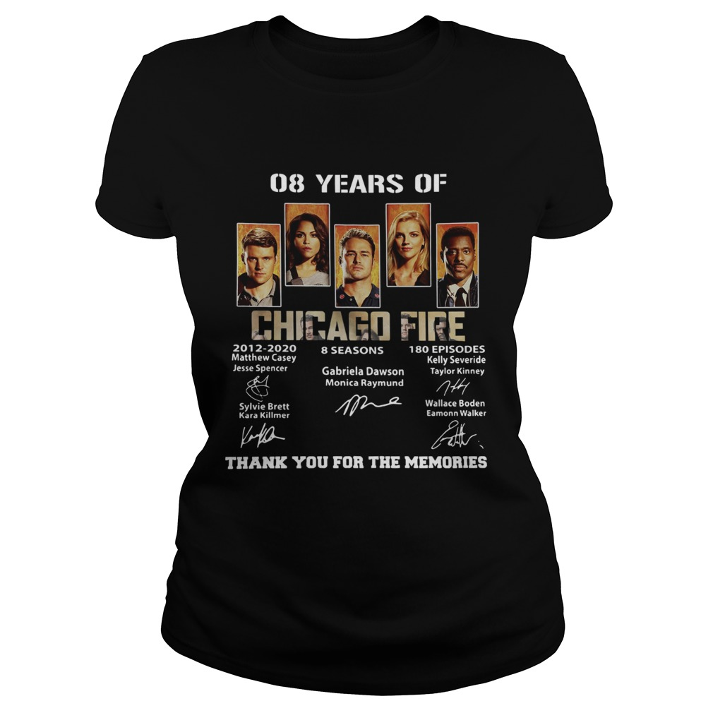 08 Years of Chicago Fire thank you for the memories signature Classic Ladies