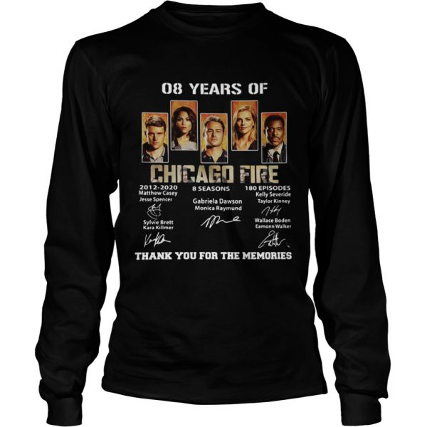 08 Years of Chicago Fire thank you for the memories signature  LongSleeve