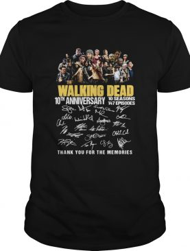 10th Anniversary Walking Dead thank you for the memories shirt
