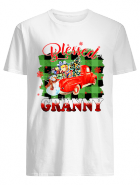 Blessed Granny Christmas Truck Snowman T-Shirt
