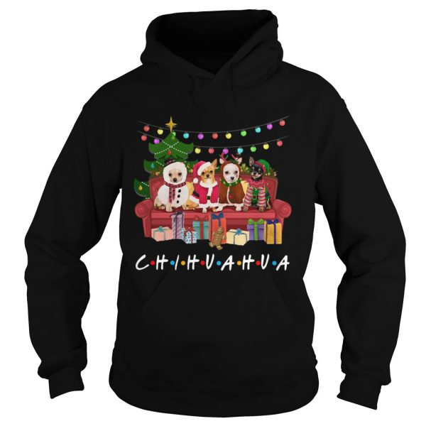 Chihuahua Friends Merry Christmas  Hoodie