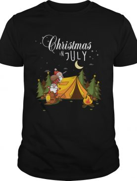 Christmas In July Festival Funny Camping Shirt