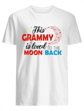 Christmas This Grammy Is Loved To The Moon And Back T-Shirt