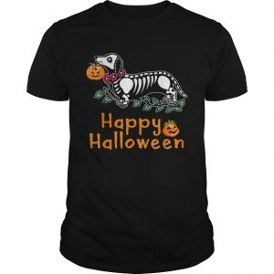 Dachshund Skeleton Pumpkin Happy Halloween  Unisex