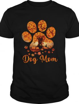 Dog Mom Autumn Leaves Halloween TShirt