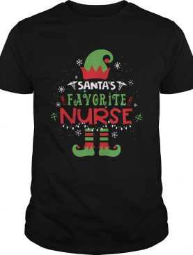 Elf Santa Favorite Nurse Christmas shirt