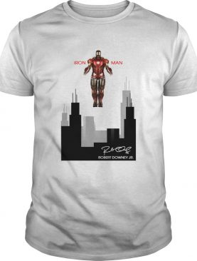 Iron man Robert Downey Jr Signature Stark industries shirt