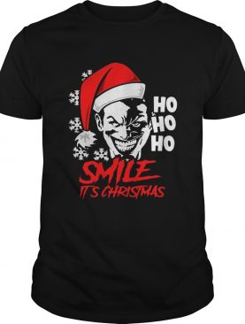 Joker Smile Its Christmas Ho Ho Ho shirt
