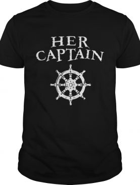 Mens Her Captain Funny Halloween Couples Matching shirt