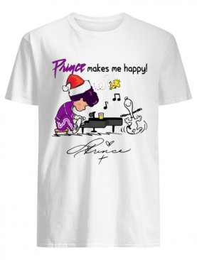 Prince makes me happy Schroeder Snoopy Peanuts shirt