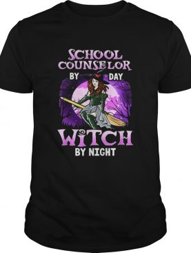 School Counselor Halloween Witch By Day By Night shirt