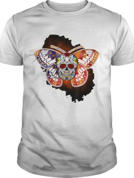 Sugar Skull Butterfly Day Of The Death Multiple Sclerosis shirt