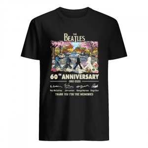 The Beatles Cross Abbey Road Under Blossom Tree 60th Anniversary Thank You For Memories Shirt Classic Men's T-shirt