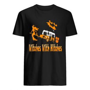 Witches With Hitches Camping Funny Halloween Womens  Classic Men's T-shirt