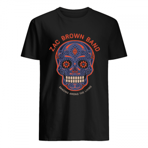 Zac Brown Band – Sugar Skull Halloween Day of the Dead  Classic Men's T-shirt