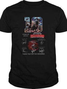 10 Years of How To Train Your Dragon thank you for the memories shirt