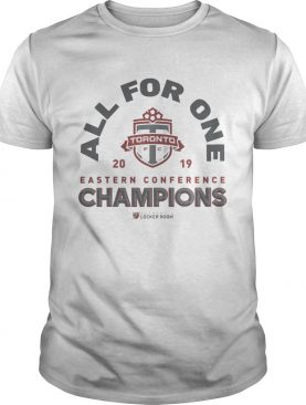 All For One Toronto FC 2019 NBA Eastern Conference Champs Authentic MLS Locker Room shirt