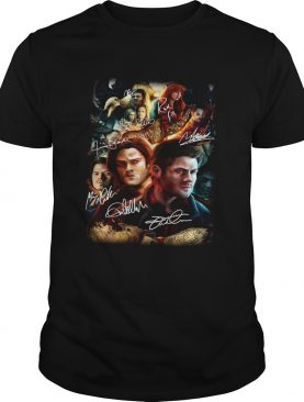 Supernatural Family Don't End With Blood Signatures Shirt