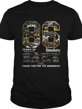 86 Years Of Pittsburgh Steelers 19332019 signatures shirt