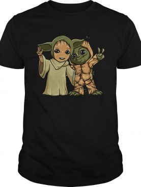 Baby Yoda and Groot shirt