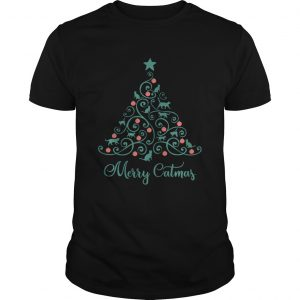 Cat Lover Christmas Gifts Merry Catmas Cats Christmas Tree  Unisex