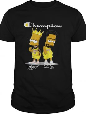 Champion Lebron James Jersey Lakers The Simpsons Signatures shirt
