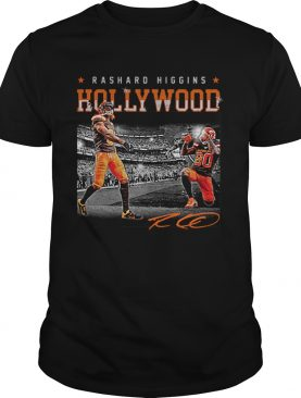 Cleveland Browns Rashard Higgins Holly Wood signature shirt