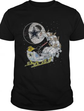 Dallas Cowboy Star Wars Christmas Darth Vader Santas Sleigh shirt